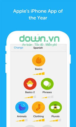 Duolingo miễn phí cho iOS