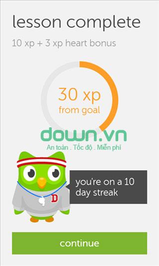 Ứng dụng Duolingo học ngoại ngữ cho iOS