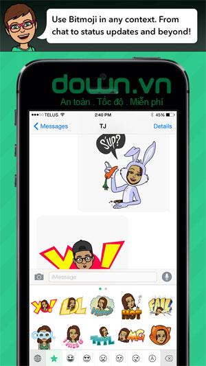 Gửi biểu tượng đến những app yêu thích