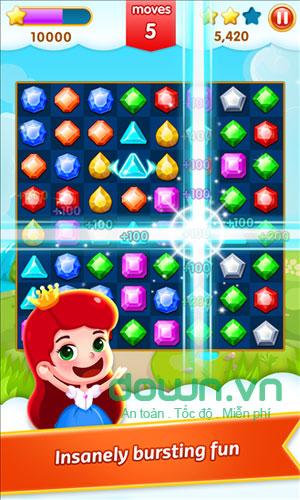 Các level xếp kim cương trong Jewel Legend