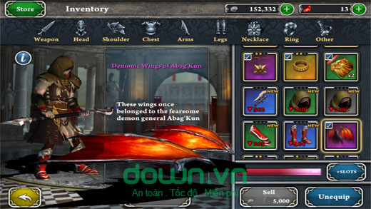 Đồ họa 3D trong Blood & Glory: Immortals cho iOS