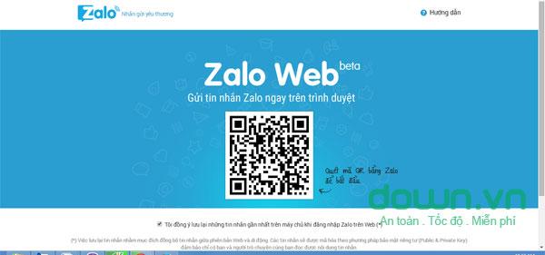 Zalo trên Web cho Windows