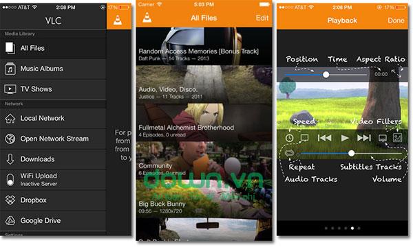 Ứng dụng xem video chất lượng  VLC miễn phí cho iOS