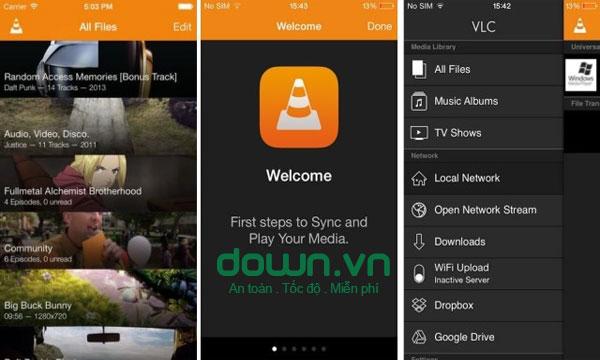 Trình quản lý video thông minh của  VLC miễn phí cho iOS