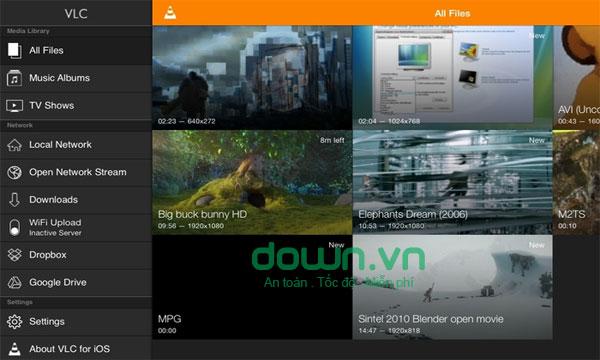 Ứng dụng xem video thông minh VLC cho iPhone/iPad