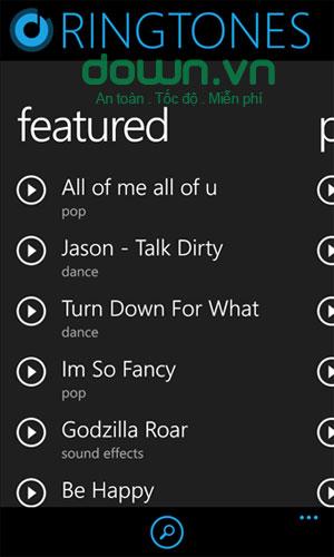 Ứng dụng nhạc chuông Ringtones+ cho Windows Phone
