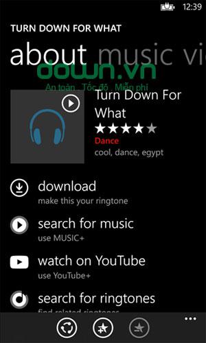 Thể loại nhạc chuông đa dạng trong ứng dụng nhạc chuông Ringtones cho Windows Phone