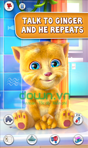 Game nuôi mèo Talking Ginger cho Windows Phone