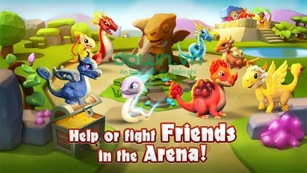 Chiến binh Rồng trong Dragon Mania Legends miễn phí cho Windows