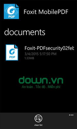 Foxit Mobile PDF miễn phí cho Windows Phone