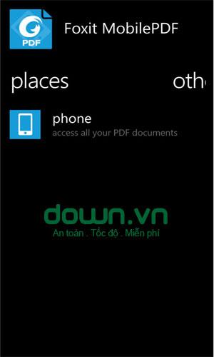 Ứng dụng đọc file PDF bằng ứng dụng Foxit Mobile PDF