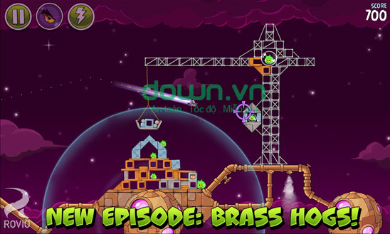 30 level Brass Hogs mới trong Angry Birds Space cho Windows Phone