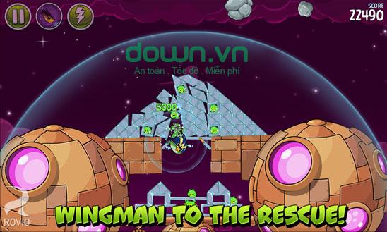 Wingman với khả năng đặc biệt trong Angry Birds Space cho Windows Phone