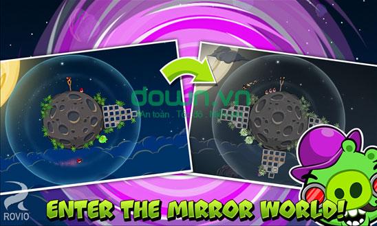 Thế giới gương trong Angry Birds Space