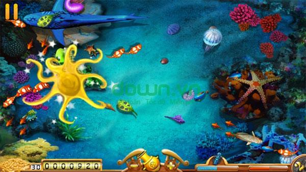 Thu tiền vàng trong game câu cá Happy Fisher