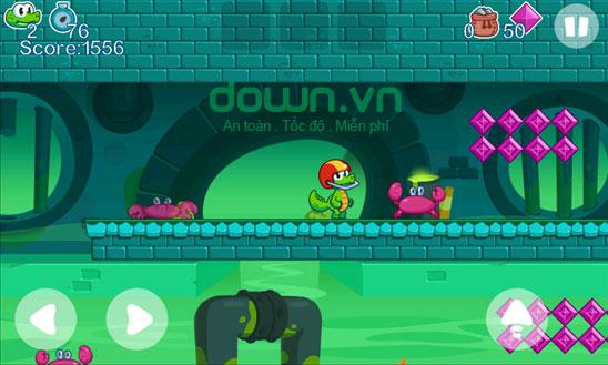 Hành trình vượt vật cản trong game Crocs World 2