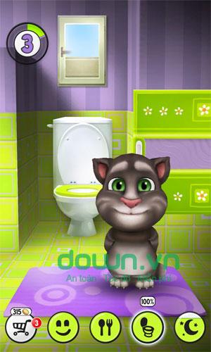 Chăm sóc mèo Tom trong My Talking Tom
