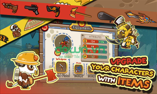 Nâng cấp vũ khí và kỹ năng chiến đấu trong Monster Go!