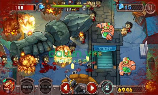 Tiêu diệt Zombie trong game Cuộc chiến thây ma miễn phí