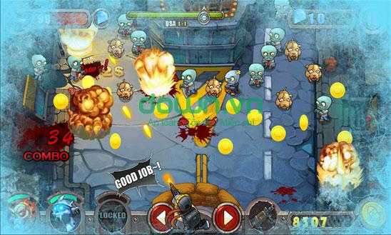 Thu tiền vàng bắn Zombie trong game Cuộc chiến thây ma miễn phí