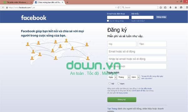 Lướt web, truy cập Facebook bằng FireFox