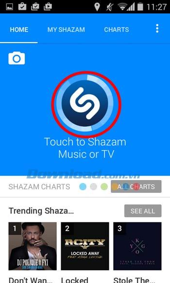 Shazam cho Android
