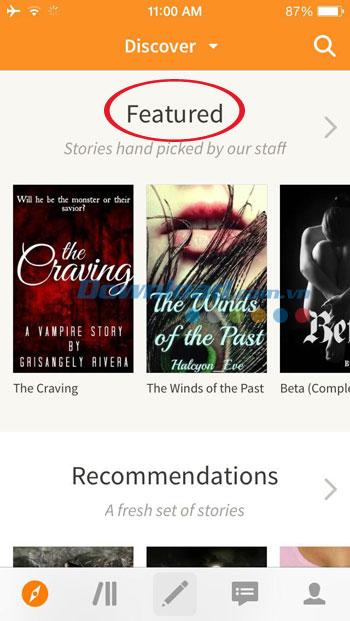 Sách đề cử trên Wattpad