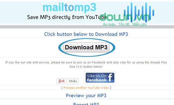 Tải file MP3 về máy