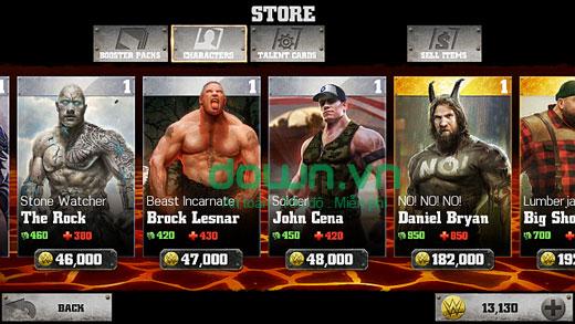 game chiến binh WWE bất tử
