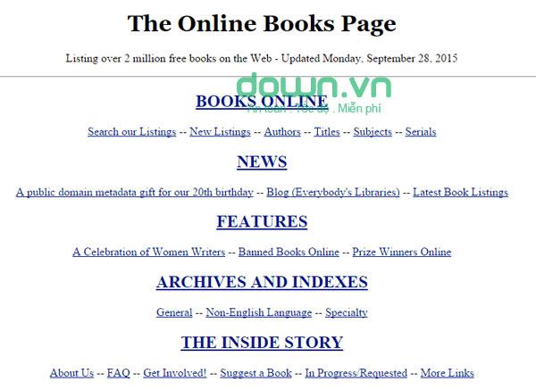 Tổng hợp website tải sách trực tuyến miễn phí