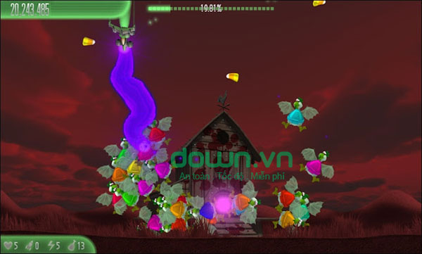 Game bắn gà Chicken Invaders 5: Halloween