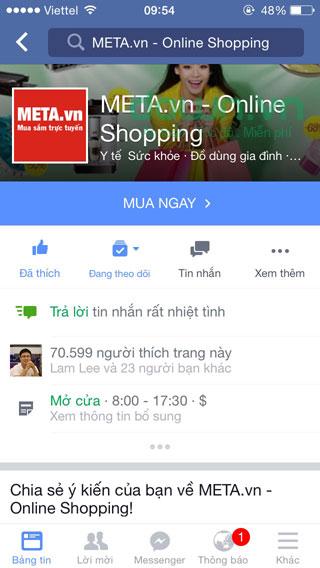 Tải Facebook cho iOS