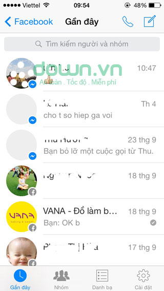 Facebook Messenger cho iOS