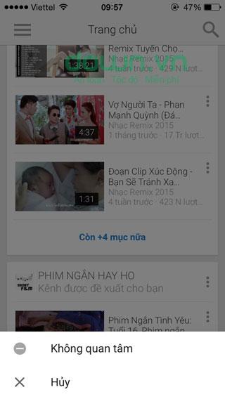 YouTube cho iOS