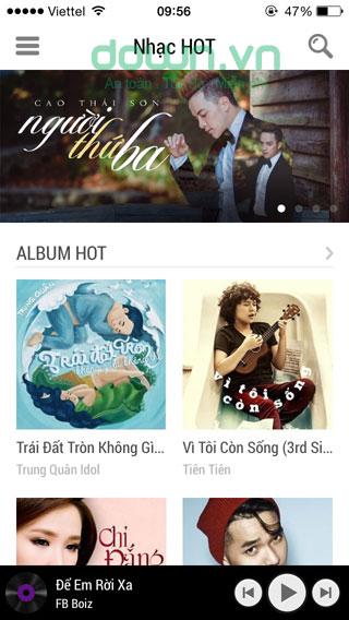 Tải ứng dụng nghe nhạc Zing MP3 cho iOS.