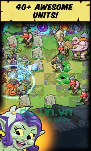 Game chiến thuật thủ thành Trolls vs Vikings