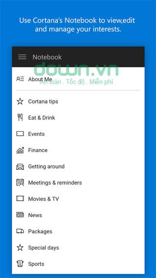 Ứng dụng trợ lý ảo Cortana