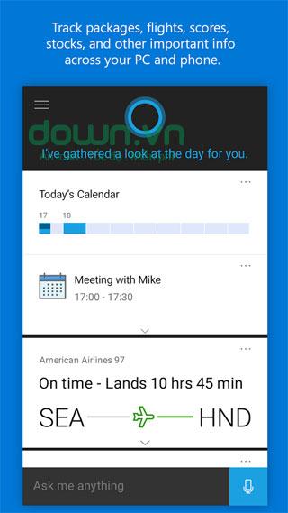 Trò chuyện cùng Cortana