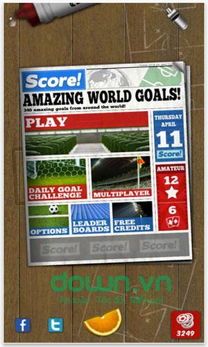 Tải game bóng đá Score! World Goals