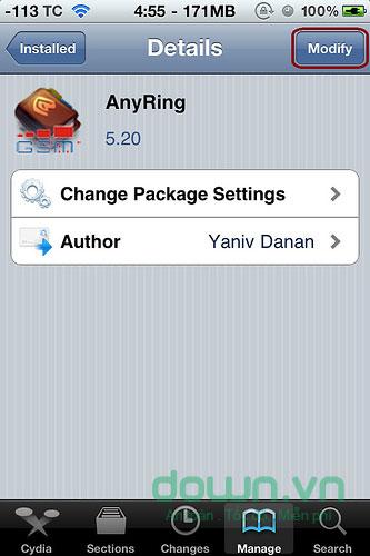Hướng dẫn gỡ bỏ ứng dụng trên Cydia của iPhone