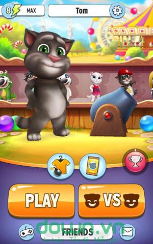 Tải game bắn bóng cùng mèo Tom