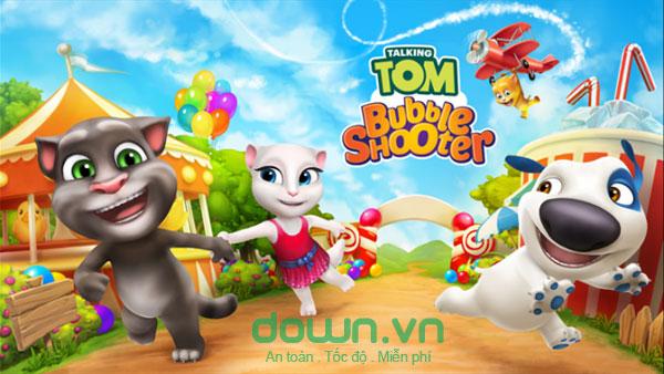 Tải game Talking Tom Bubble Shooter