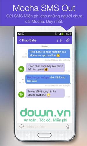 Ứng dụng chat Mocha Messenger