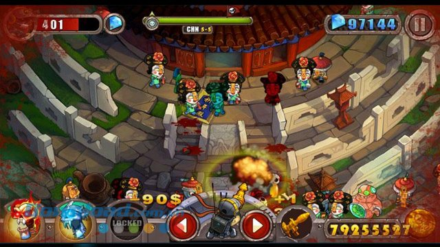 Giao diện game Zombie Evil