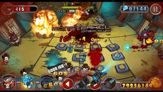 Diệt xác sống trong game Zombie Evil