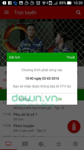 Hướng dẫn cách hẹn giờ xem Táo Quân 2016 trên VTV Go