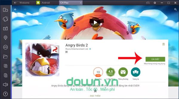 chơi Angry Birds 2 trên máy tính bằng Bluestack 2