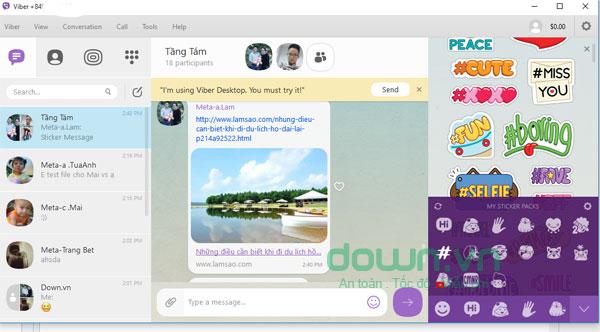 Tính năng đính kèm file trên Viber cho máy tính