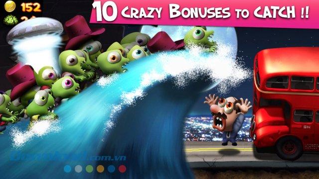 Thu thập phần thưởng trong game Zombie Tsunami