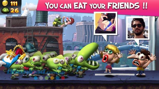 Thử thách bạn bè trong game Zombie Tsunami